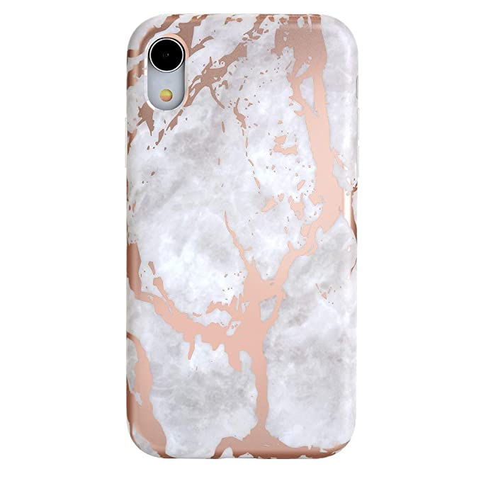 premium selection 8bc28 ef618 Velvet Caviar Rose Gold White Marble iPhone XR Case - Premium Protective  Cover - Cute Phone Cases for Girls & Women [Drop Test Certified]