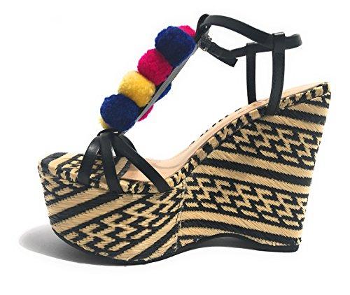 Schutz - Zapatos de vestir para mujer RAFIA NATURALE NERO