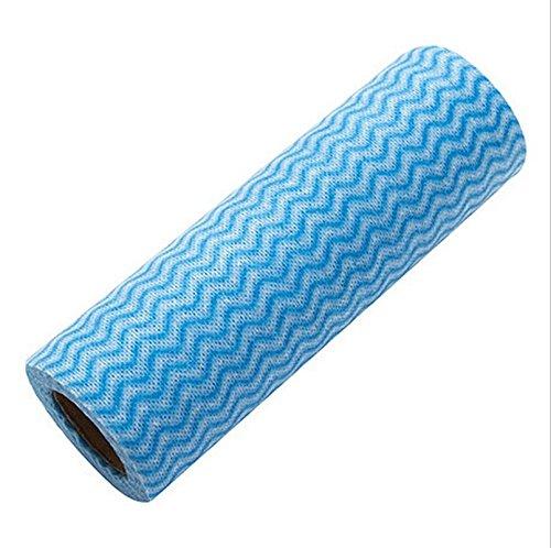 nalmatoionme Reinigung Handtuch Haltepunkt Einweg Küche Handtuch Faserstoff Einweg Tücher (blau)