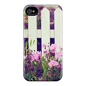 Durable Defender Case For Iphone 4/4s Tpu Cover(picturesque Garden)
