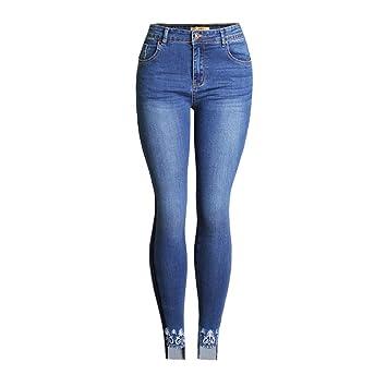 Pantalones vaqueros de las señoras Vaqueros de cintura alta ...