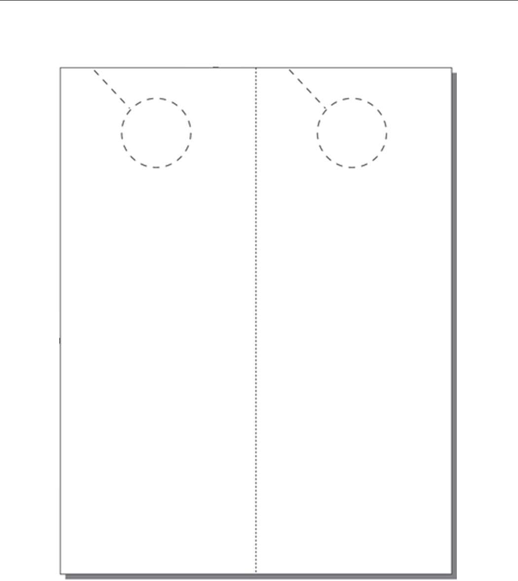 4.25 x 11 Print-Ready 250 Sheets Perforated for Separation with 1.5 Holes 2-UP on 8.5 x 11 White 67-lb Vellum Door Hangers