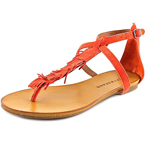 Boho-Chic Vacation & Fall Looks - Standard & Plus Size Styless - Lucky Women's Wekka Dress Sandal, Flame, 7.5 M US