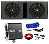 2 Kicker Comp 10 C10-4 Car Subwoofers+Sub Box+DXA250.1 Amplifier+09DPK8 Amp Kit