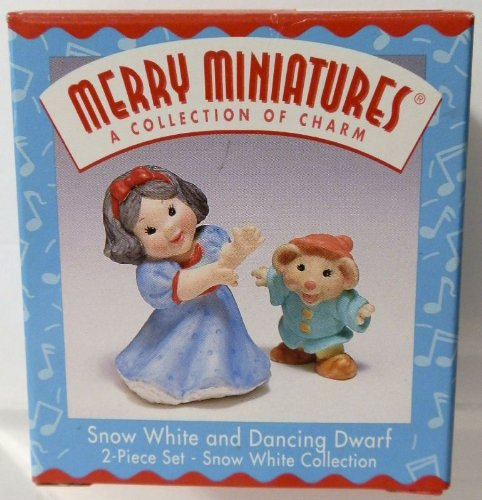 Snow White and Dancing Dwarf Hallmark Merry Miniatures ()