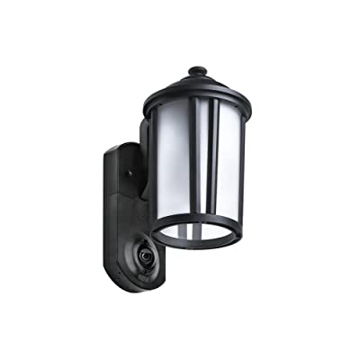 Maximus Video Security Camera Outdoor Light Traditional Black Works With Amazon Alexa
