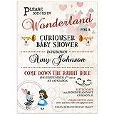 Alice in Wonderland Baby Shower Invitations
