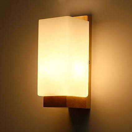 Amazon.com: Baycher Modern Wooden Wall Lights Lighting Loft Wooden ...