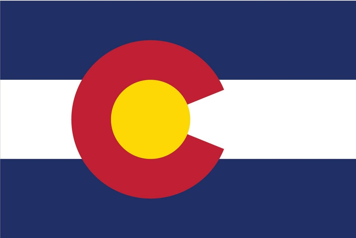 Amazon com 2 pack colorado state flag decal sticker 5 inches by 3 inches premium quality vinyl pd312 automotive