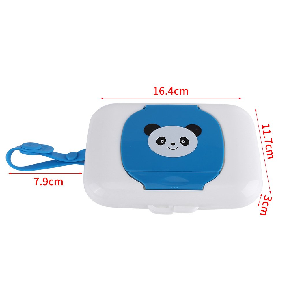 Amazon.com : Fdit Wet Wipes Storage Box, Baby Outdoor Travel Stroller Wet Wipes Box Refillable Container for Car Bathroom Living Room(White + Blue).
