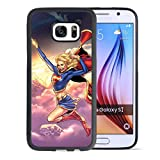 Customized Supergirl Samsung S7 Soft Rubber Case made of Tire Tread Pattern in Black made by Onelee