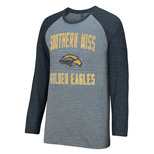 J America NCAA Southern Mississippi Golden Eagles Men's AAA Tee Baseball Tee, XX-Large, Graphite ()