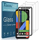 TOCOL [3Pack] for Google Pixel 4 XL Screen Protector Tempered Glass HD Clarity Touch Accurate [9H Hardness] + Easy Installation Tray with Lifetime Replacement Warranty