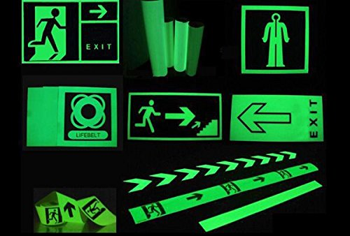 Luminous Glow In The Dark Tape Safety Self-adhesive Stage Home Design Decals (5cm x 5m, Green Arrow) by bearfire (Image #3)