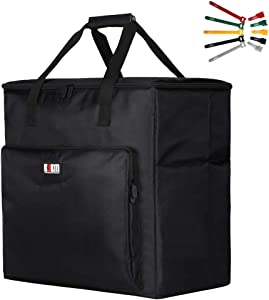 BUBM Desktop Gaming Computer PC Carrying Case Travel Storage Carrying Bag for Tower Case, Monitor, Keyboard and Mouse
