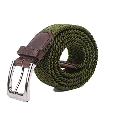 (Canvas Elastic Fabric Woven Stretch Multicolored Braided Belts)