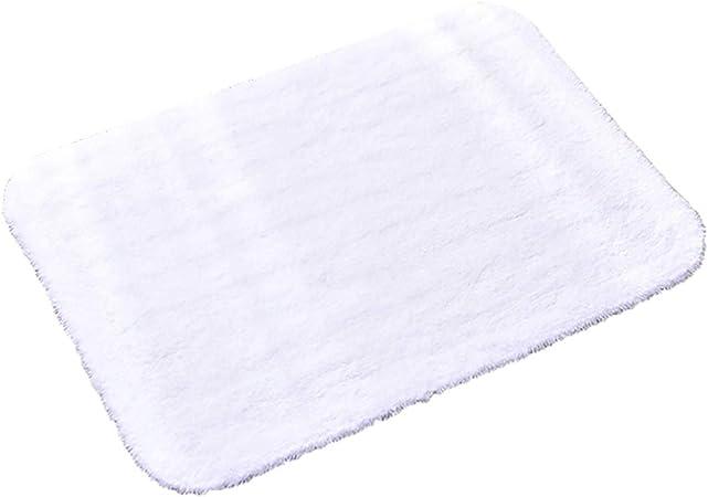 WYQ Alfombras Blancas, alfombras, Antideslizante a Prueba de Humedad de algodón, sin estimulación Alfombra de baño Suave, Alfombra de Cocina Lavable a máquina Alfombrillas de baño (Tamaño : 40x60cm): Amazon.es: Hogar