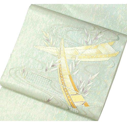 紗 袋帯 夏 舟 水 風景 フォーマル 上品 シック 正絹 着物 きもの リサイクル レディース 70176096