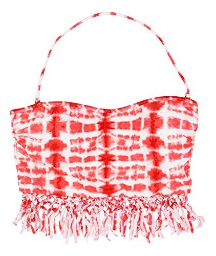 Raisins Juniors Cabo Kiss Fringe Bandeau - Raisins Nylon Bikini Shopping Results