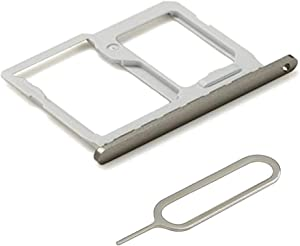 MMOBIEL SIM Card Tray Slot Holder Replacement Compatible with LG G5 5.3 Inch Series (Gray) incl Sim pin