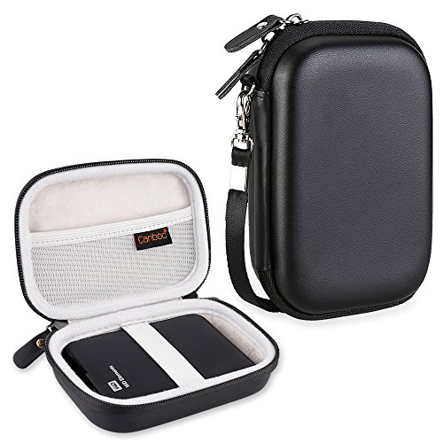 Canboc EVA Shockproof Carrying Case for WD My Passport, WD Elements/Seagate Expansion, Seagate Backup Plus Slim 1TB 2TB 3TB 4TB USB 3.0 Portable External Hard Drive Storage Pouch Box Bag, Black (Wd Elements 2tb Basic Storage)