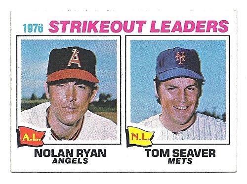 - NOLAN RYAN TOM SEAVER 1977 Topps Strikeout League Leaders Card #6 California Angels New York Mets Baseball