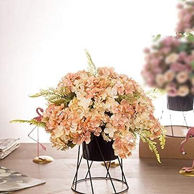 Flores Artificiales Rosa Peonía Hortensia con Jarrón Artificial ...