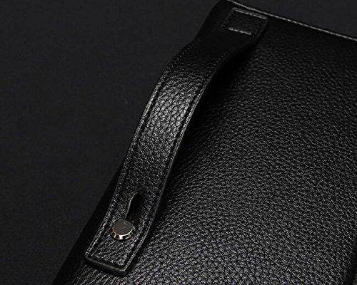 Fermeture Douce De Main Homme Surface carte Loisirs Sac Glissière Grande Capacité Black Double Affaires Mode Multi À dHdqX