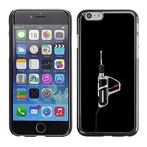 """For Apple Iphone 6 Plus / 6S Plus ( 5.5 ) Case , Herramienta eléctrica Taladro Herramienta Manly Negro"""" - Diseño Patrón Teléfono Caso Cubierta Case Bumper Duro Protección Case Cover Funda"""