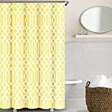Echelon Home Irving Place Shower Curtain, Yellow