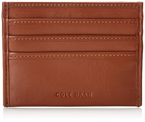 Cole Haan Mens Veg Leather East West Credit Card Holder  Tan  One Size