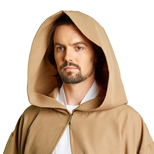 Largemouth Men's Jedi Sith Robe Cloak Costume Brown Black (Medium (54, Desert -