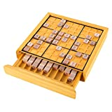 Hey!Play! 80-EC03 Wood Sudoku Complete Set Tiles, Wooden Board and Puzzle Book-Number Thinking Game for Adults and Kids