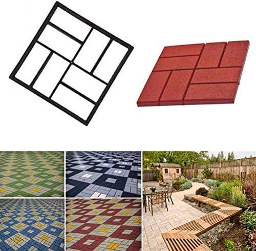 ガーデンコンクリート金型、diy用プラスチックパスメーカー金型、舗装セメントレンガ金型、ストーンロードコンクリート金型 (Color : B:40x40x4cm)