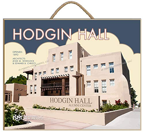 (Prints Charming College Art Deco 14x11 New Mexico Hodgin Hall Framed Posters 16x12 Inches)