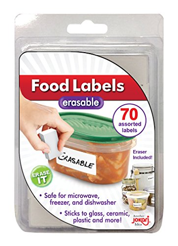 70 Count Packs (Jokari Label Once Erasable Food Labels Refill Pack, 70-Count)