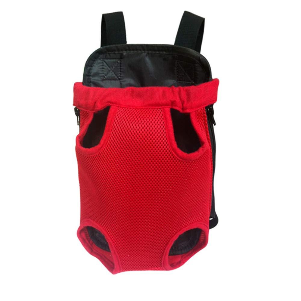 Red L Red L HYUE Pet Chest Bag Shoulder Bag Out Portable Dog Cat Backpack,Pet Handbag (color   Red, Size   L)
