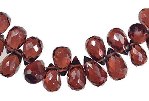 uGems Garnet Briolettes Gems Drops Facet Beads ~7mm 9 Inch (Garnet Briolette)