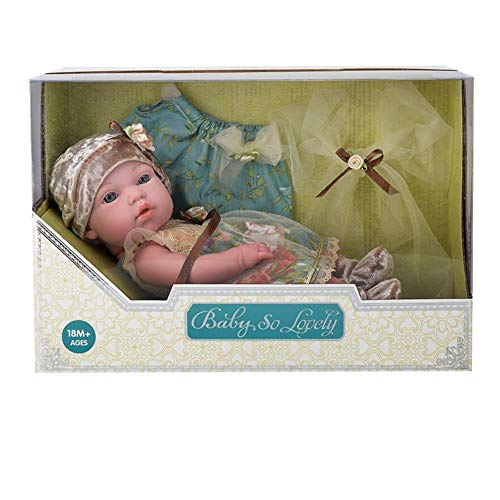 - Sweet 10-inch, 12-inch, 15-inch Soft Body Newborn Baby Doll, Wipe-Clean Arms & Legs, Gift for Baby Kid