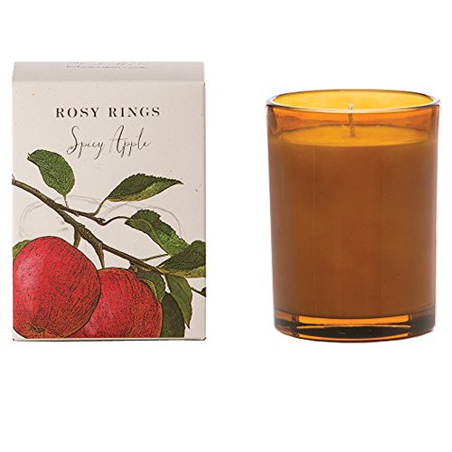 Rosy Rings Botanica Glass Candle, Spicy Apple (Apple Embellishments)