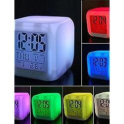 Nightlight Night Lights for Everyone Colorful Decompression LED Alarm Clock Night Light 80x80x80mm