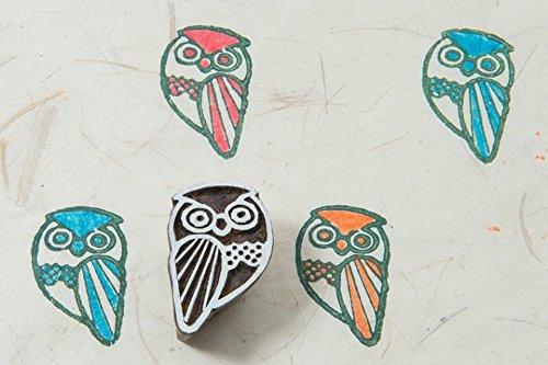 Blockwallah Owlet Wooden Block Stamp