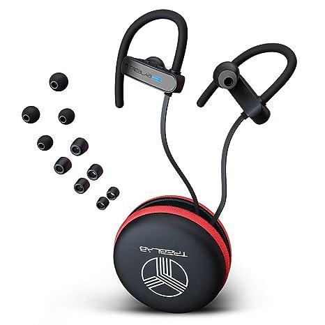 a7463a10686 TREBLAB XR800 - Premium Sport Earphones Bluetooth - Secure-Fit IPX7  Wireless Waterproof Earbuds for