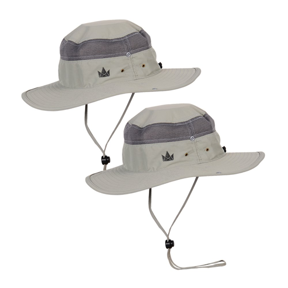 The Friendly Swede Sun Hats 2-Pack - Safari Hat for Men Women and Children, Boonie Hat, Camping Hat, Fishing Hat, Summer Hat, Gardening Hat by