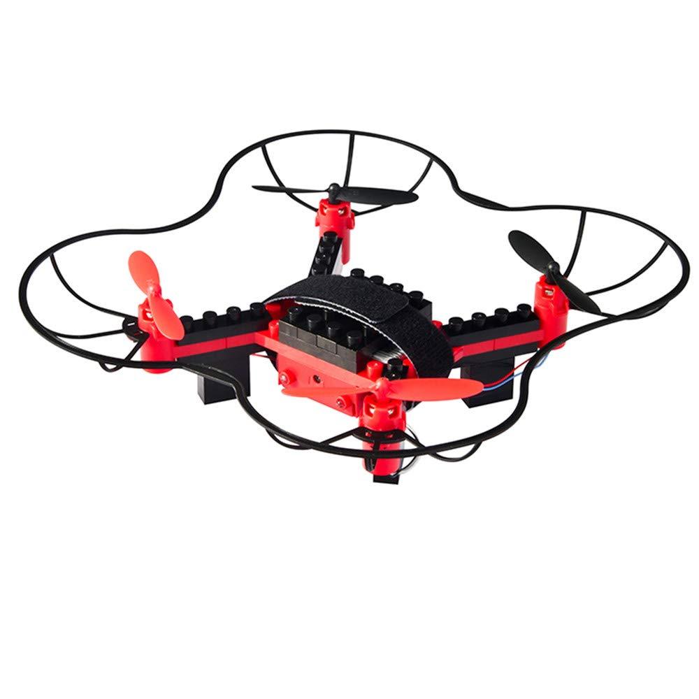 LXWM DIY RC Drone Bloques De Construcción Drone Helicopter 2.4G 4CH 3D Flying UFO WiFi Mini RC Drone Cumpleaños De Los Niños