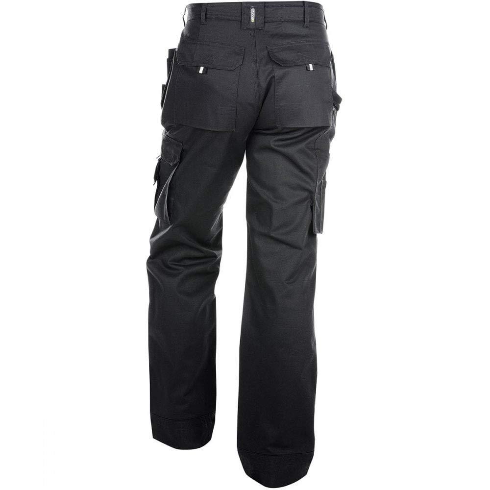 Noir Pantalon multi-poches avec poches genoux ajustables en Cordura/® Pantalons de Travail Dassy Oxford 245 g