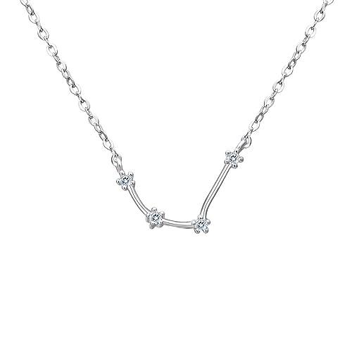 Clearine Women 925 Sterling Silver Wedding Bridal CZ Horoscope Zodiac 12 Constellation Astrology Link Bracelet BqkA03fU
