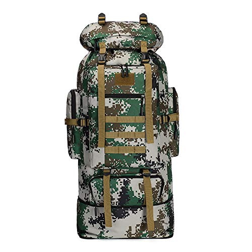 FKDG Hiking Backpack - 100l Large-Capacity Scalable Can Expand Camouflage Mountaineering Bag Outdoor Sports Backpack Hiking Camouflage Backpack Camping Backpack,C