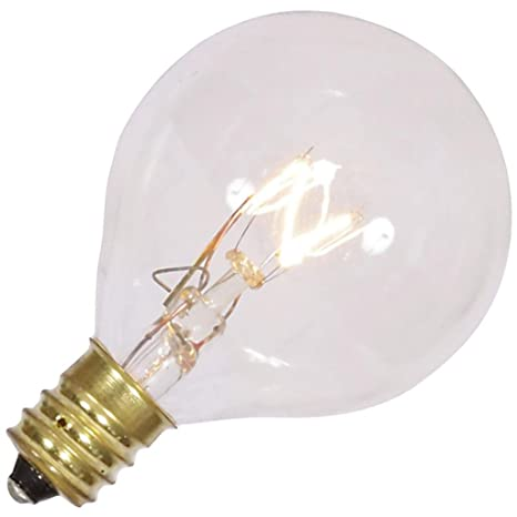 vickerman 360316 7 watt 120 volt g40 candelabra screw clear twinkle bulb 5 pack