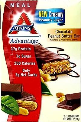 Atkins Advantage Chocolate Peanut Butter Bar, 25.2 Ounce